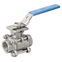 3PC Threaded Ball Valve With High Mounting Pad thumbnail image
