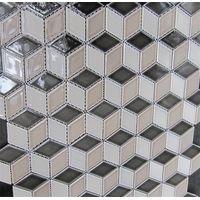 48x48mm Mixed Color 3D Diamond shape porcelain Mosaics thumbnail image