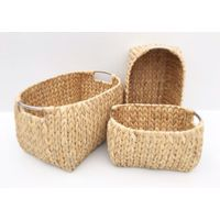rattan, waterhyacinth storage basket