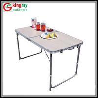 Folding beach table with aluminum tube thumbnail image