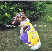 Pet product football team dog tshirt, dog sports clothes