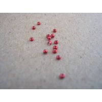 red painted tungsten beads