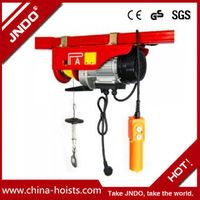PA types of mini electric wire rope hoist