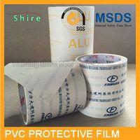 pvc protective film for aluminum profiles/adhesive pvc protection tape/pvc material protection film