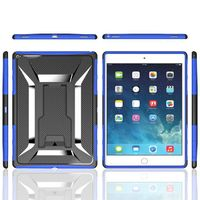 X Shape Shock Proof Heavy Defender Armor Stand Case Silicone Cover for iPad Pro Mini 4 IPROC04