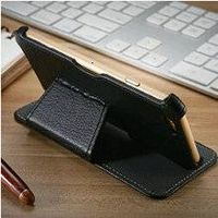 Litchi Leather Stand Case