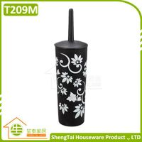 Fashion Bathroom Silm Toilet Brush With Cover
