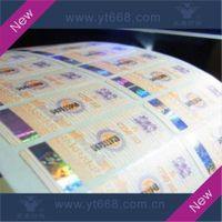 Security paper sticker with hot stamping hologram anti-counterfeiting