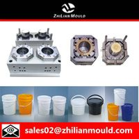 Taizhou customized plastic paint bucket mould with high quality thumbnail image