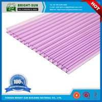 10 years warranty pc polycarbonate hollow sheets used for roofing