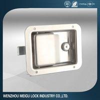 Trailer toolbox door lock