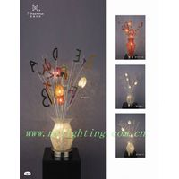 modern aluminum flower  vase table lamp MT7282-7