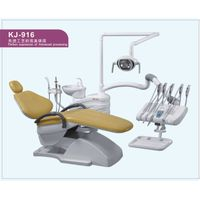 CE approved Dental chair KJ-916 with top-mounted tool tray
