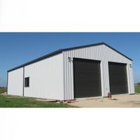 easy installation hot galvanized steel structure feeding cow poultry farm house building