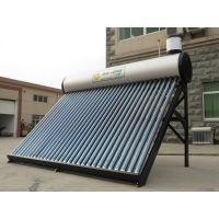 Integrative vacuum tube Non pressure system solar water heaters for home bath