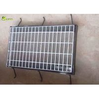Twisted Bar Galvanized Standard Trench Step Steel Grate With Angle Frames