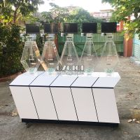 Customized rhombus multi-cylinder lottery roulette machine for sale