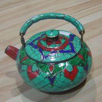 Tibetan Turquoise Red Coral Teapot