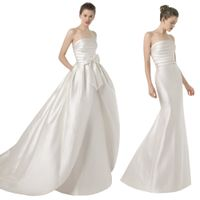 Strapless Mermaid Wedding Dress with Detachabel Skirt