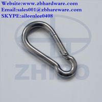 safety black stainless steel snap hooks