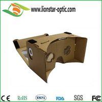 DIY Google cardboard Virtual Reality 3D glasses with elastic headband thumbnail image