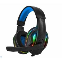 Wired Black and Blue Gaming Headset with Microphone Super Comfortable USB Headset thumbnail image