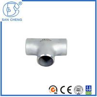 Professional Pipe Fittings Stainless Steel Weld Equal Tee