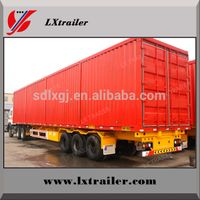 China factory food van box semi trailer price