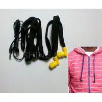 hoodie drawstring earbuds washable headphones waterproof earphones hoodie