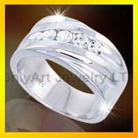 2013 hot selling big engagement rings 925 sterling silver ring jewelry thumbnail image
