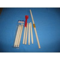 shaped wood rods