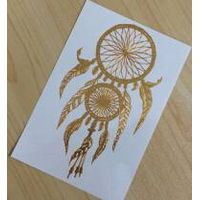 Fashionable Dreamcatcher Temporary Goden Tattoo Sticker