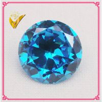 aquamarine blue brilliant cut gemstone