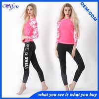 2017 newly design pattern sleeve lycra swimming suit swimwear diving suit wetsuits surfing suit