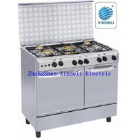 Two ovens in freestanding cooking range