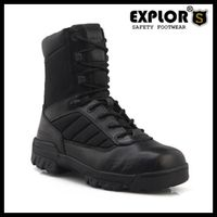 Men's combot boots 5inch work boots blank boots leather boots with oxford thumbnail image
