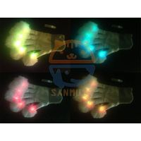 Led flashing glove for Festival Halloween,Christmas,Thanksgiving day ,LED Fluffy Glove/Flashig Boom