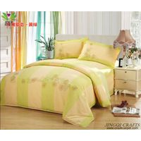 """Breathable cloth"" Hand woven 100% cotton bedding sets 4pcs zz4006"
