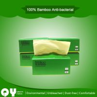 natural unbleached bamboo pulp soft facial tissue paper
