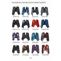 60% viscose 40% silk velvet short jackets