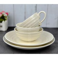 Wholesale porcelain plate hot sale porcelain dinner sets ceramic dinner dishes and bowl