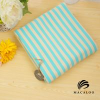 Macaloo textile Customized 95% coton 5% lycra yarn dyed stripe knitted fabric