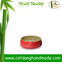 Vietnam bamboo fiber bowl, bamboo fruit bowl(skype: jendamy, Mob: +84 914542499)