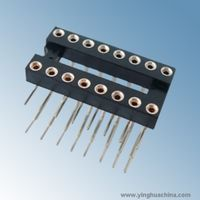2.54X3.0 round pin IC socket - right angle Dim C 7.62, pin pitch 2.54 or 7.62