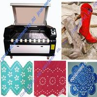 GR-1810 dual head laser cutting machine for cloth/fabric/plush /leather thumbnail image