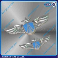 Custom Pilot Uniform Zinc Alloy Wings Arm Badge