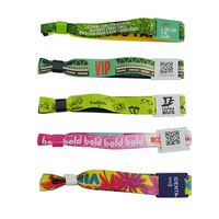 13.56M Ultralight Custom Printing NFC Fabric Wristband  festival wristbands for sale thumbnail image