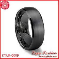 Black Tungsten Ring, Brushed Ring, Wedding Ring, Tungsten Ring Wholesale