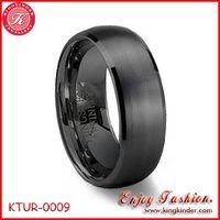 Black Tungsten Ring, Brushed Ring, Wedding Ring, Tungsten Ring Wholesale
