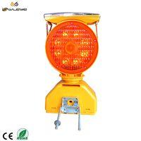 beacon led strobe tower crane magnetic solar revolving rotating amber road work warning light thumbnail image